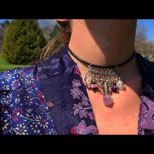 Wrap amethyst necklace